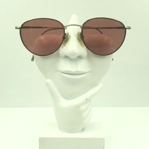 Guess Brown Gold Oval Sunglasses Frames